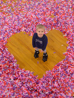 Skagit Skate Valentines Skate Party Confetti Celebration Image